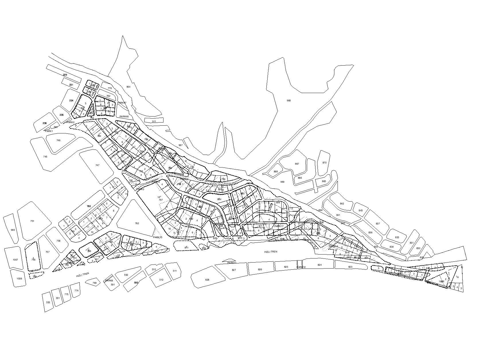 Hasanoğlan Bahçelievler Mahallesi 96200 parselasyon 1. Etap askı ilanı hk.