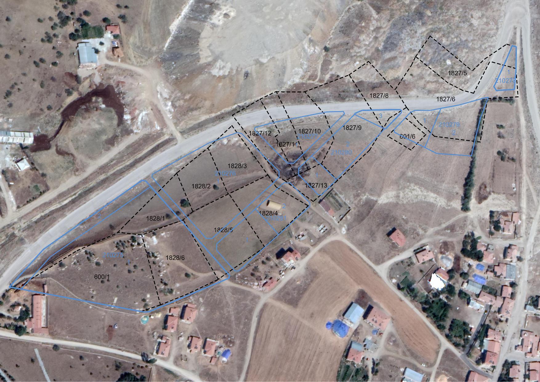 Hasanoğlan Şehitlik Mahallesi yaklaşık 7 hektarlık alanda 96180 sayılı parselasyon planı askı süreci hk.