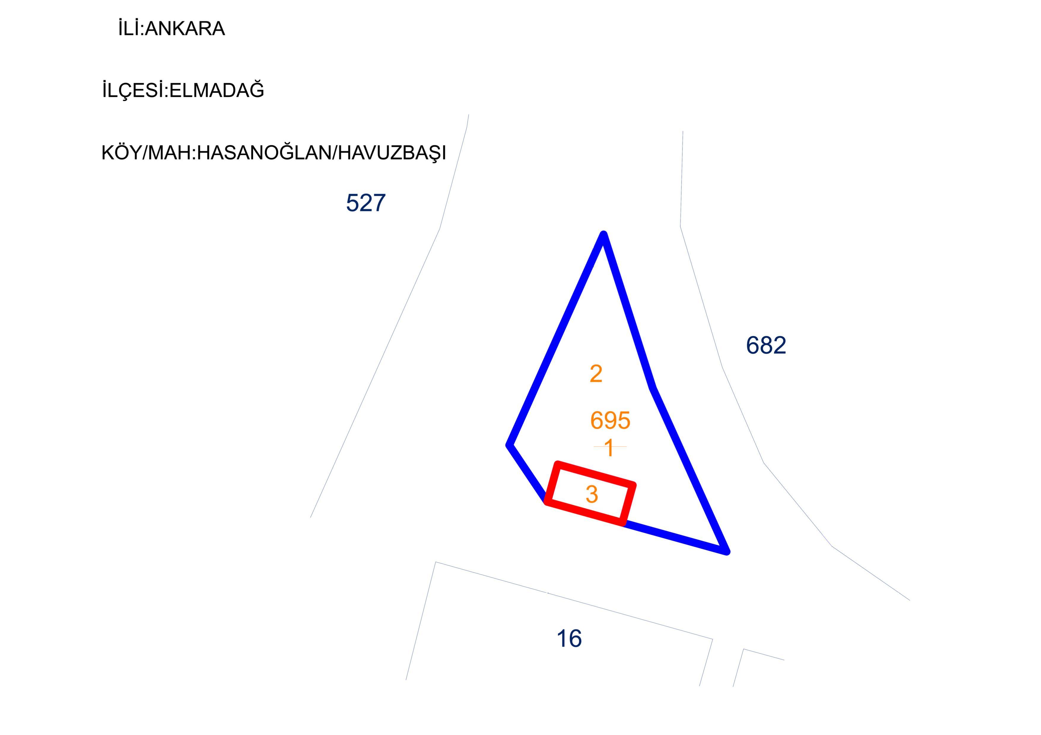Hasanoğlan Havuzbaşı Mahallesi 695 ada 1 parsel 96182 sayılı parselasyon planı hk.